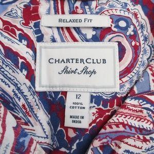 Charter Club Tops - Charter Club Womens Paisley Print Blouse